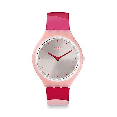 Swatch SKIN超薄系列 SKINSET 超薄粉紅手錶