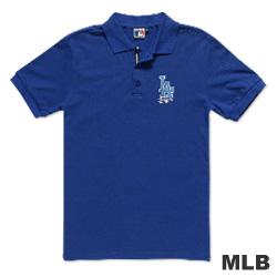 MLB-洛杉磯道奇隊電繡POLO衫-藍(男)