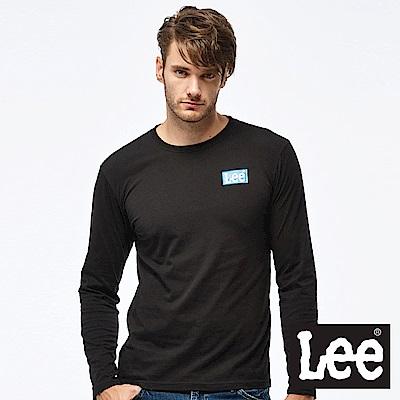 Lee  LEE LOGO長袖圓領Tee-男款-黑