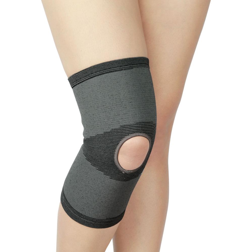 源之氣 竹炭開洞型運動護膝 2入 RM-10219