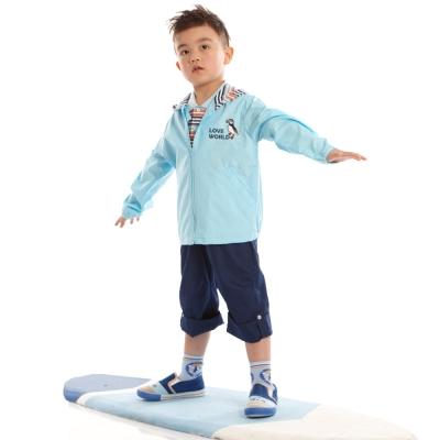 愛的世界 純棉鬆緊帶海鸚鵡休閒七分褲/2~4歲