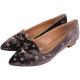 Charlotte Olympia  天鵝絨貓咪星星圖案尖頭平底鞋(咖啡色) product thumbnail 1