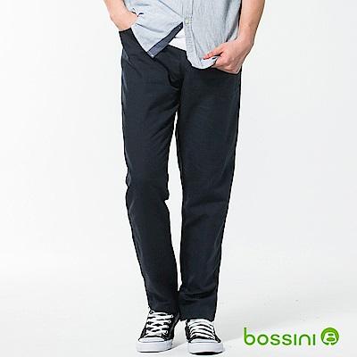 bossini男裝-休閒棉麻輕便長褲01海軍藍