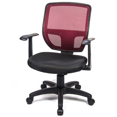 aaronation 愛倫國度 - 透氣網背彈性T型電腦椅五色可選