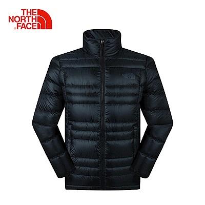 The North Face北面男款黑色戶外羽絨服