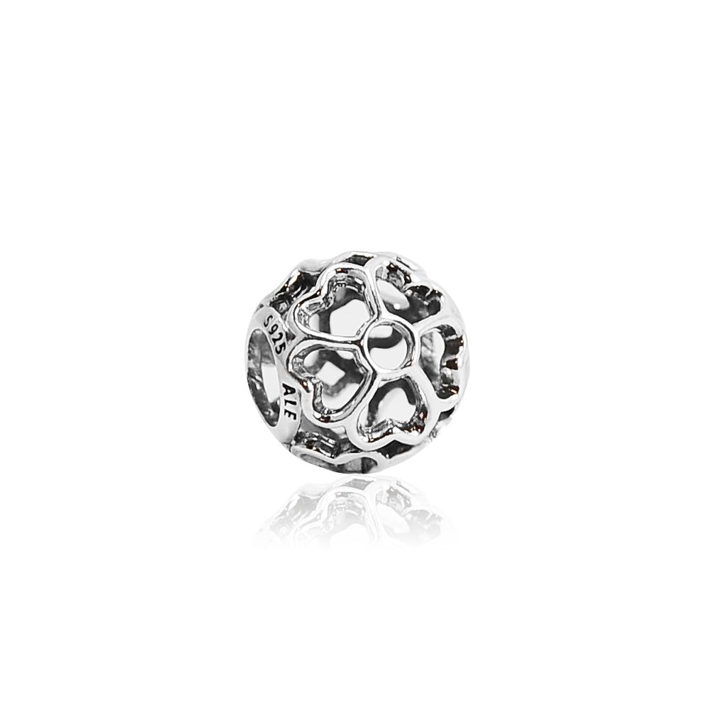 Pandora 潘朵拉 鏤空櫻草花 純銀墜飾 串珠
