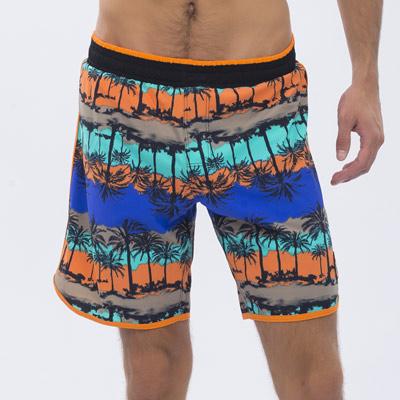 澳洲Sunseeker泳裝時尚男士快乾衝浪泳褲-椰林橘