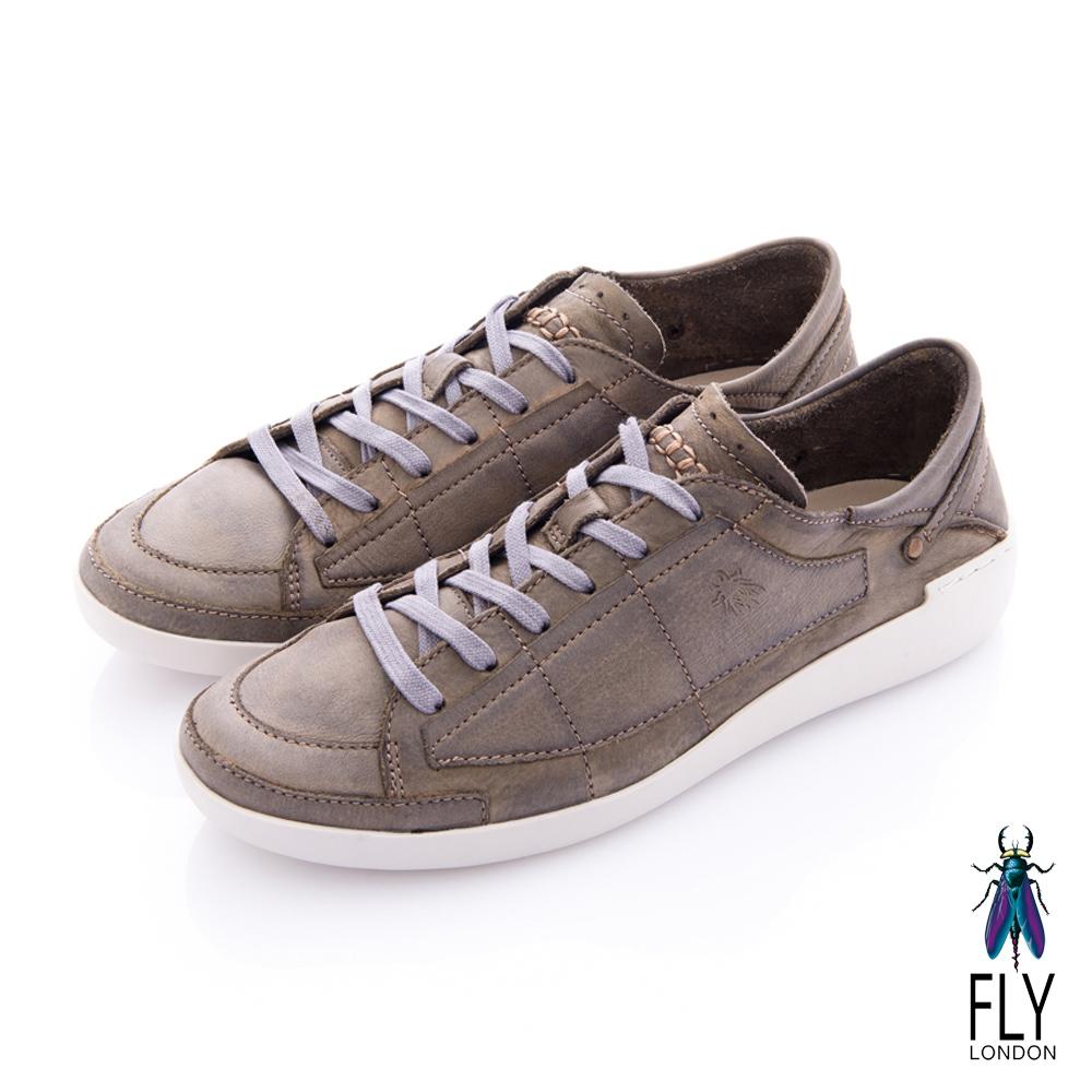 Fly London(男) 哲學之思 手染自然色系綁帶休閒鞋 - 石灰
