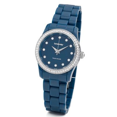brosway True Color Mini 鑽面PC錶帶腕錶-寶藍色/31mm