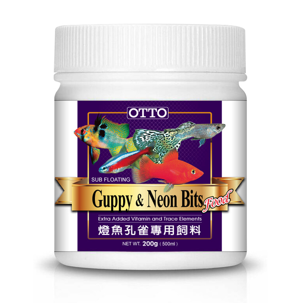 OTTO奧圖 燈魚孔雀專用飼料 200g X 2