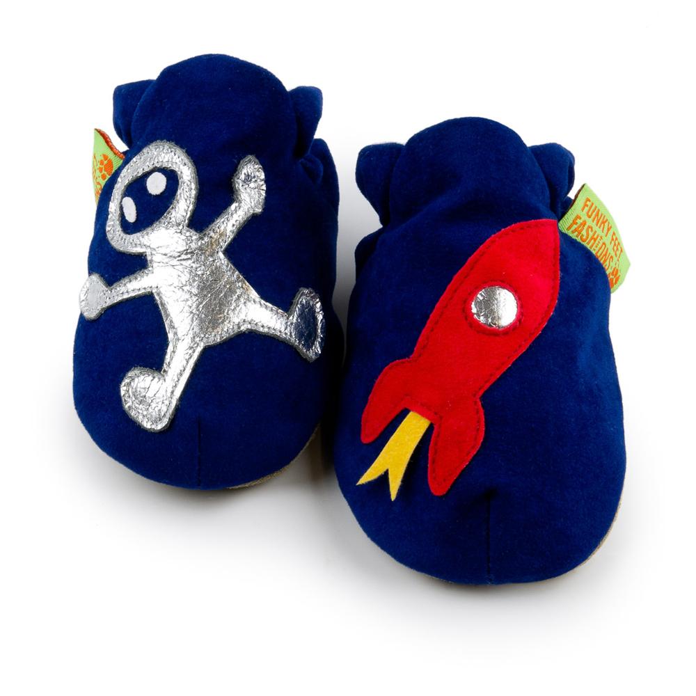 英國 Funky Feet 室內手工鞋- 太空人 FF001014