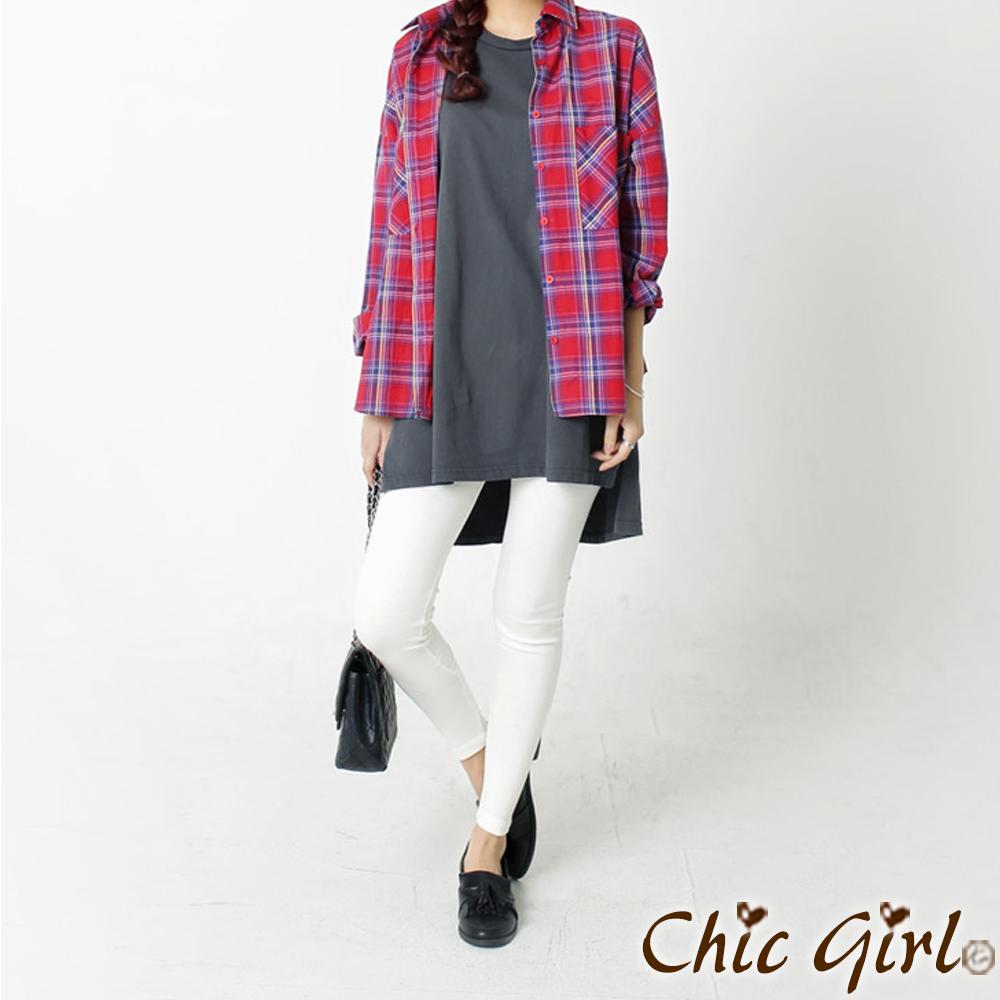 粉彩蠟筆棉質鬆緊內搭褲 (共七色)-Chic Girl