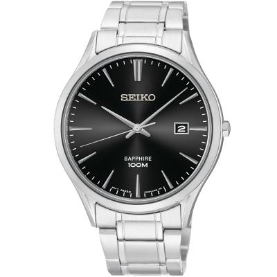 SEIKO 時尚玩家藍寶石水晶腕錶(SGEG95P1)-黑/40mm