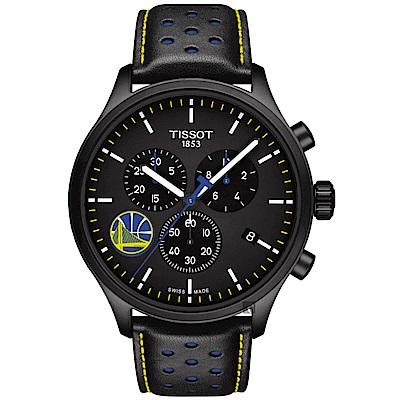 TISSOT天梭 CHRONO XL NBA 勇士隊特別版計時錶-45mm