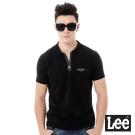 Lee 休閒短袖POLO衫-男款-黑色