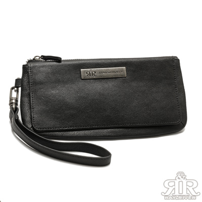 2R-畢諾羊皮BINO萬用手拿長夾包-百搭黑