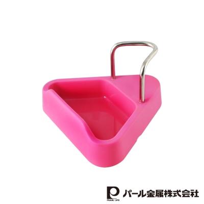 日本PEARL耐熱矽膠鍋蓋架桃色LC-581