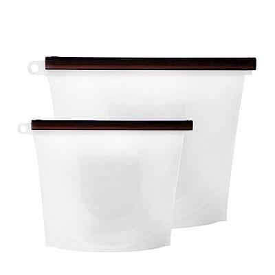 EG Home 宜居家 矽膠食物密封保鮮袋實用組1000ml5入+1500ml5入