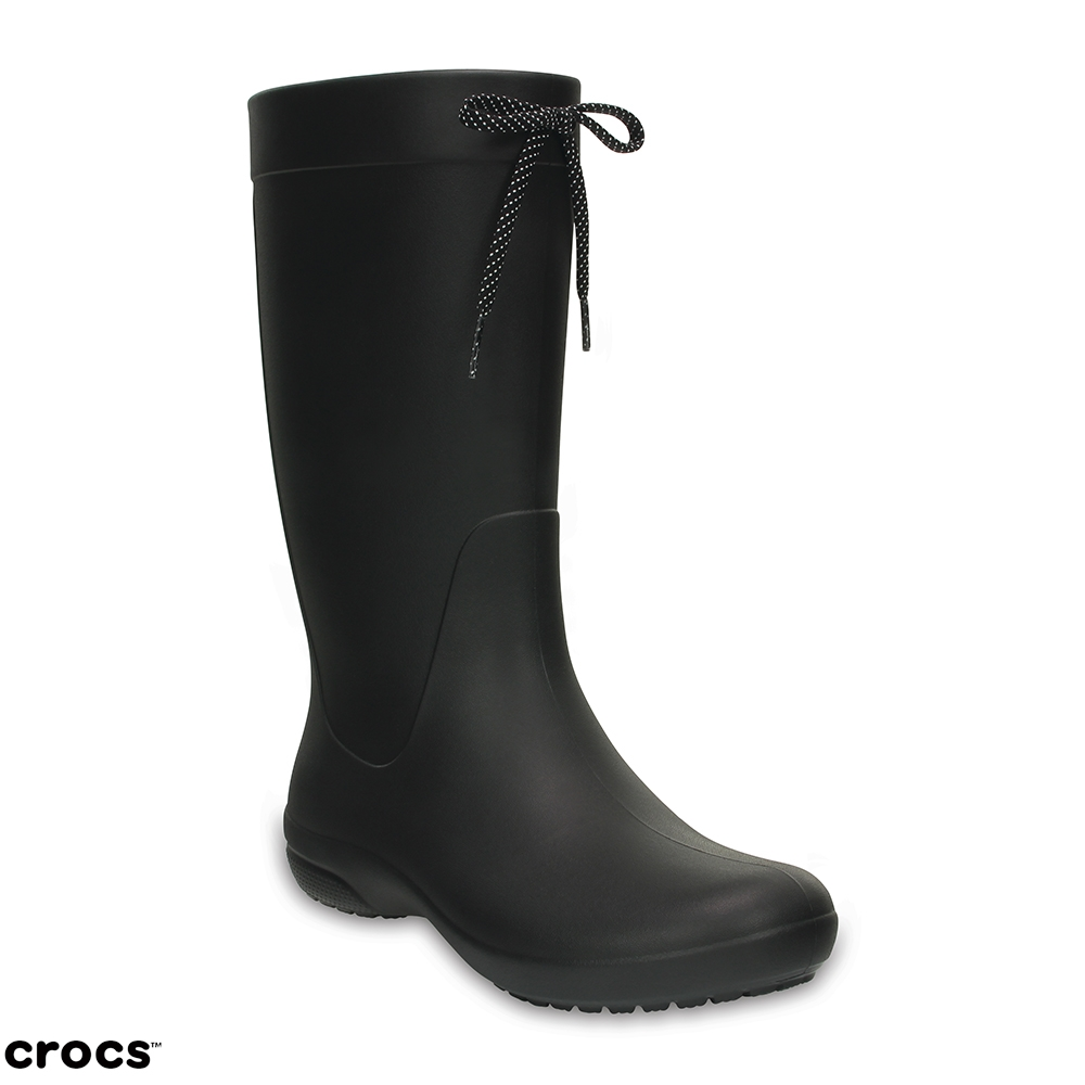 Crocs 卡駱馳 (女鞋) 飛揚長雨靴 203541-001