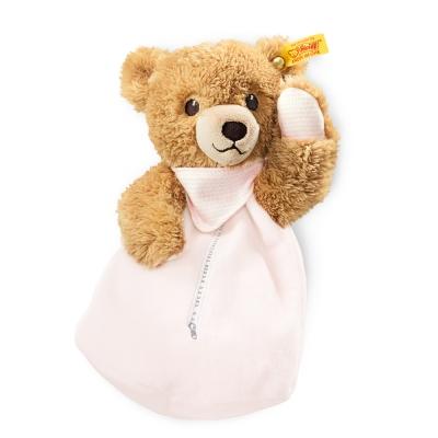 STEIFF德國金耳釦泰迪熊-Sleep well bear 粉色小熊 (嬰幼兒玩偶系列)