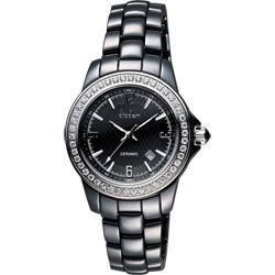 Diadem 黛亞登 菱格紋晶鑽陶瓷腕錶-黑/35mm