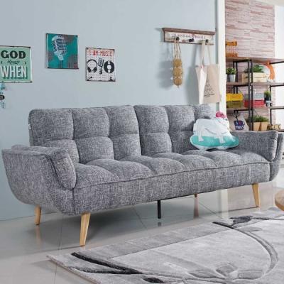 沙發床 布雷克 亞麻布兩用三人座沙發床 品家居