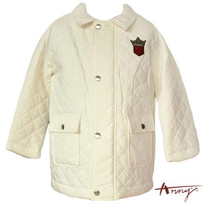 Anny1989俊挺菱格壓紋鋪棉外套*8438米白