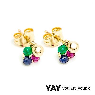 YAY You Are Young Frida 寶石花束耳環 迷你款 彩鑽X星辰豆豆