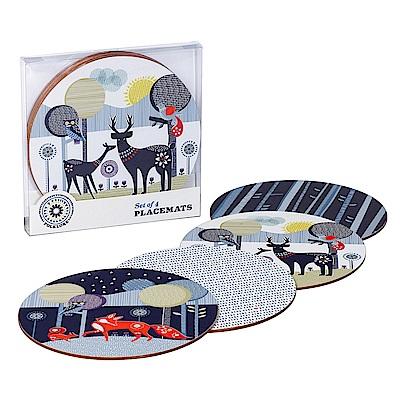 Wild & Wolf 英國 森林動物系列 桌墊組四入組