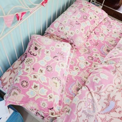 絲薇諾  瑪格麗特 單人三件式-極致保暖法蘭絨床包被套組