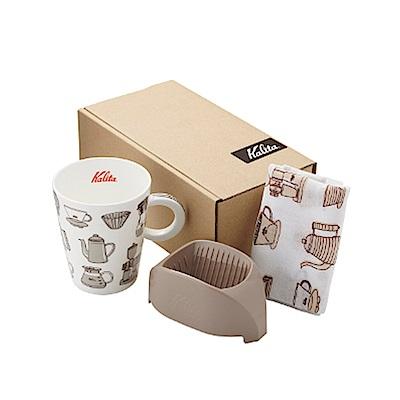 日本Kalita咖啡馬克濾杯組合(咖啡棕) #73115