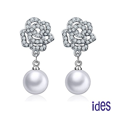 ides愛蒂思 時尚淡水貝珠耳環/白色10mm/綺麗