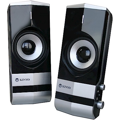 KINYO 2.0聲道二件式多媒體音箱(PS-292)加贈百元耳機