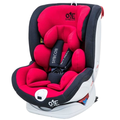 美國 SYNCON 欣康 0-12歲 ONE ISOFIX 汽車安全座椅-紅黑色