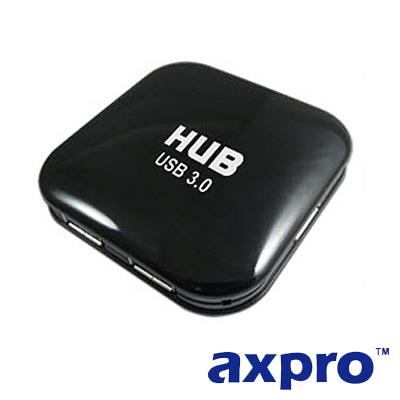 AXPRO華艦 USB3.0 黑武士集線器 (AXP860)