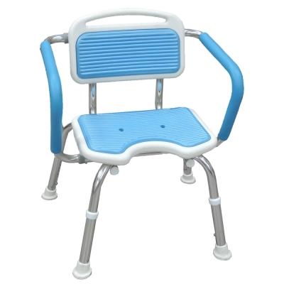 COLOR 豪華鋁合金靠背扶手洗澡椅(免組裝)