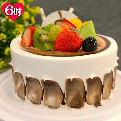現貨+預購-波呢歐醇香巧克力雙餡藍莓布丁夾心水果鮮奶蛋糕(6吋)