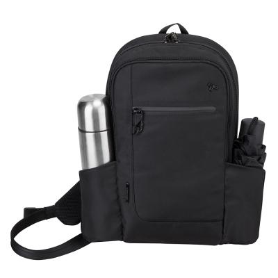 Travelon美國防盜包 質感佳多用途機能防割鋼網斜背包TL-43103-16黑