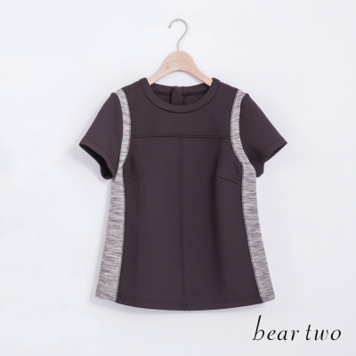 beartwo修身配色立體剪裁造型上衣(二色)