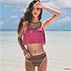泳衣 熱情夏島 鋼圈二件式泳裝(紫紅M~XL) AngelHoney天使霓裳 product thumbnail 1