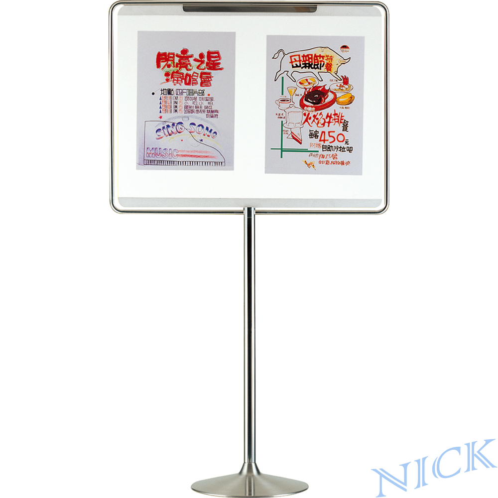 【NICK】大型橫式不鏽鋼告示牌