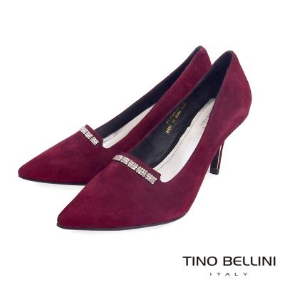 Tino-Bellini-極緻優雅魅力細鑽跟鞋-優雅紅