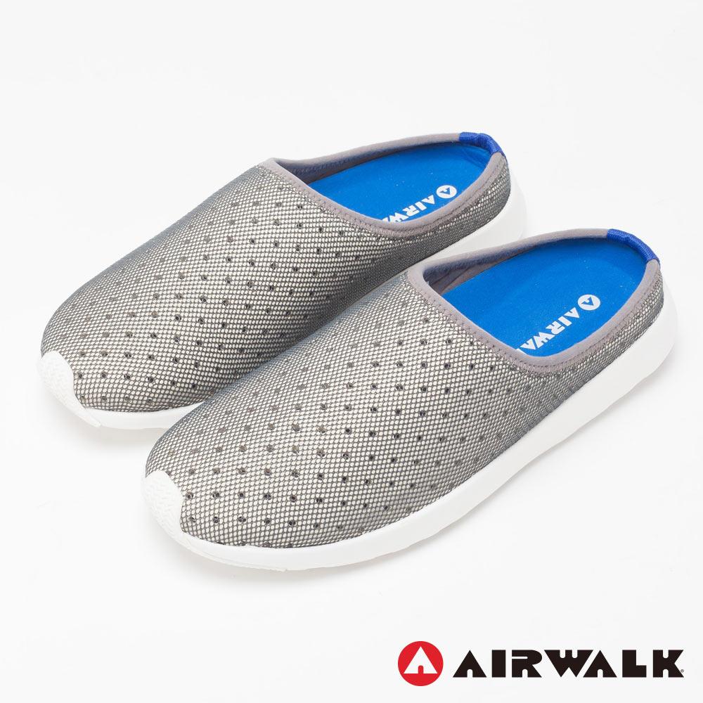 【AIRWALK】率性男孩休閒拖鞋-男款-淺灰