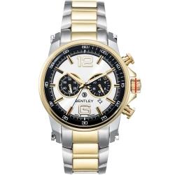 BENTLEY 賓利 Veneur系列 紳裝狩獵者計時手錶-白黑x金/43mm