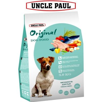 UNCLE PAUL 保羅叔叔田園生機狗食 3kg 低敏成犬 小顆粒