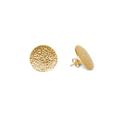 Anna Lou OF LONDON 倫敦品牌 hammered studs鎚擊質感金耳環