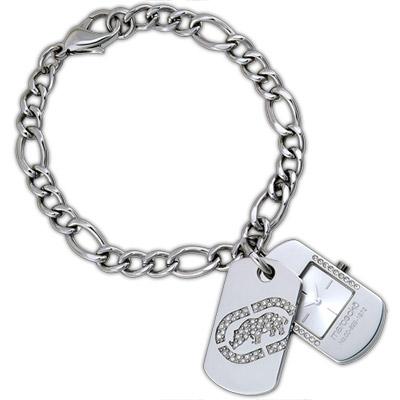 MARC ECKO 嘻哈時尚LOGO晶鑽手鍊錶/ 18 mm