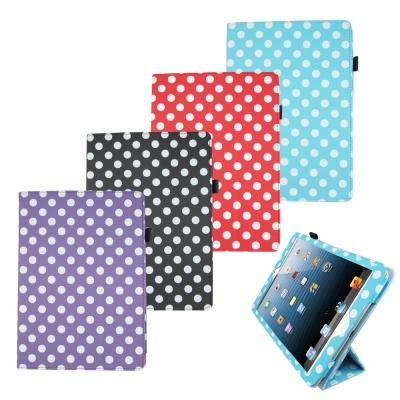 L75波點支架iPad Air(iPad5)平板皮套螢幕保護貼組