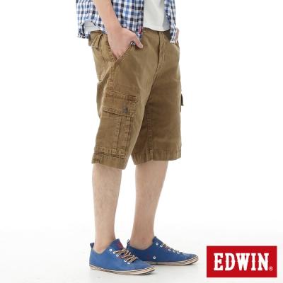 EDWIN清爽視覺-B-T口袋成品染休閒色褲-男款