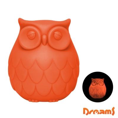 Dreams Owl 聰明貓頭鷹LED感應夜燈- 橘